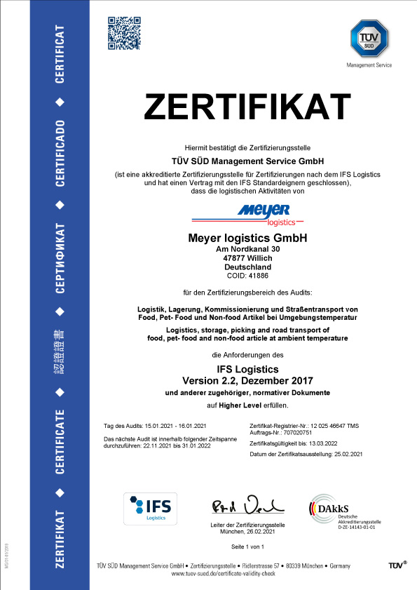 Zertifikat IFS de
